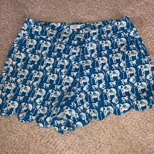 Crown and Ivy Pattern Shorts